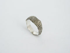 Textured Silver Ring Band