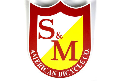 S&M Big Shield BMX sticker