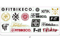 "FIT CLASSIC STICKER SHEET 4"" X 9"""