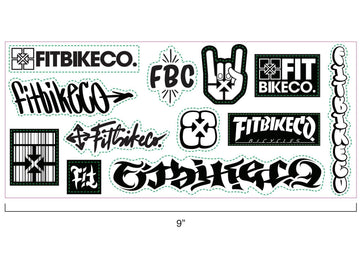 FIT B&W STICKER SHEET 4