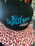 Kid dynamite pink bmx kids hat in leopard print
