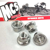 "MCS Spinner axle nuts 3/8"" (4-pack) - POWERS BMX"