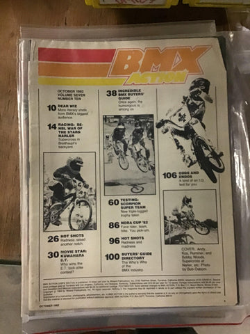 BMX Action magazine Back Issues 1982