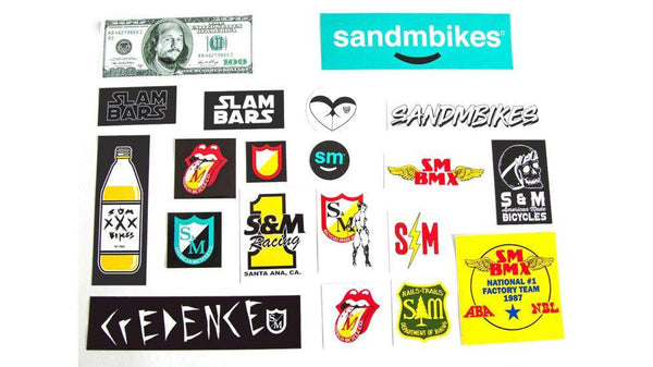 S&M assorted sticker kit - POWERS BMX