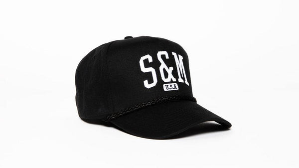 S&M 5 Panel Snapback Hat - POWERS BMX