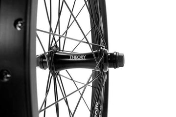 theory front complete wheel black