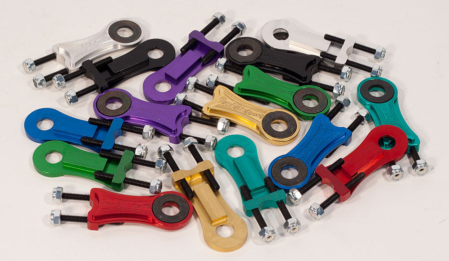 """PROFILE RACING 3//8/"""" AXLE SILVER BICYCLE CHAIN TENSIONERS"""