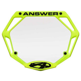 Answer 3D mini number plate - Powers Bike Shop