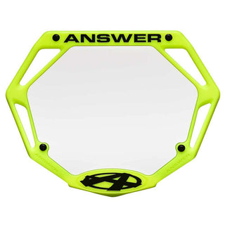 Answer 3D pro number plate - Powers Bike Shop