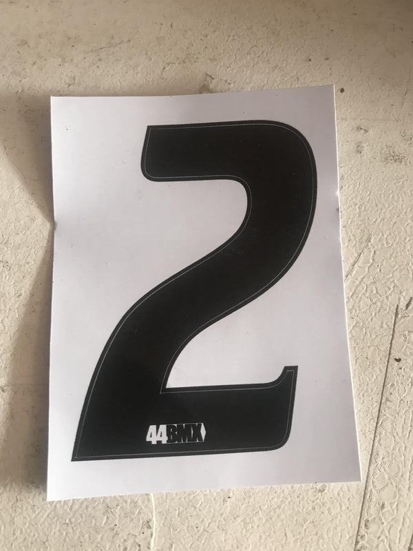 44BMX Number Plate Numbers - POWERS BMX
