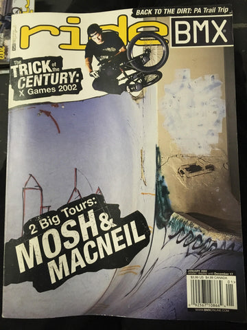 Ride BMX Magazine back issues 2002