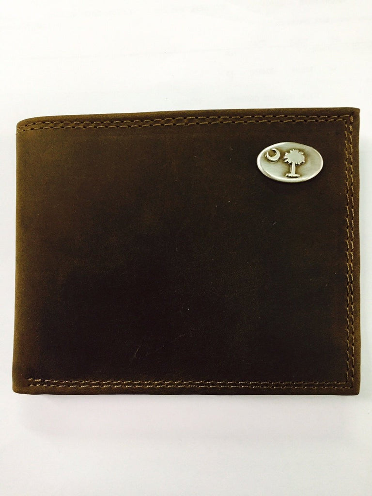 SC Palmetto Moon Bi-fold leather wallet
