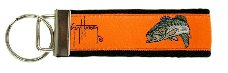 Guy Harvey Orange Largemouth Bass Key Chain