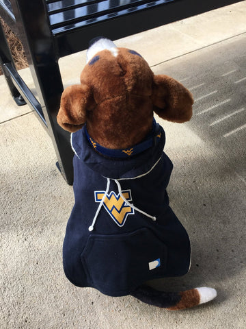 West Virginia Dog Hoodie Coat