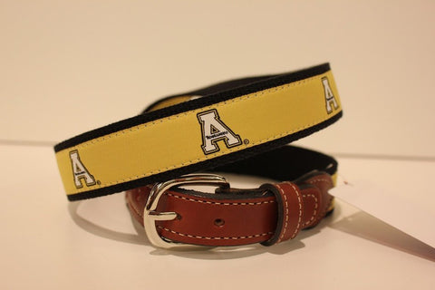 Appalachian State  Men's  Web Leather Belt