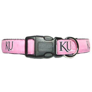Kansas University  KU Dog Collar