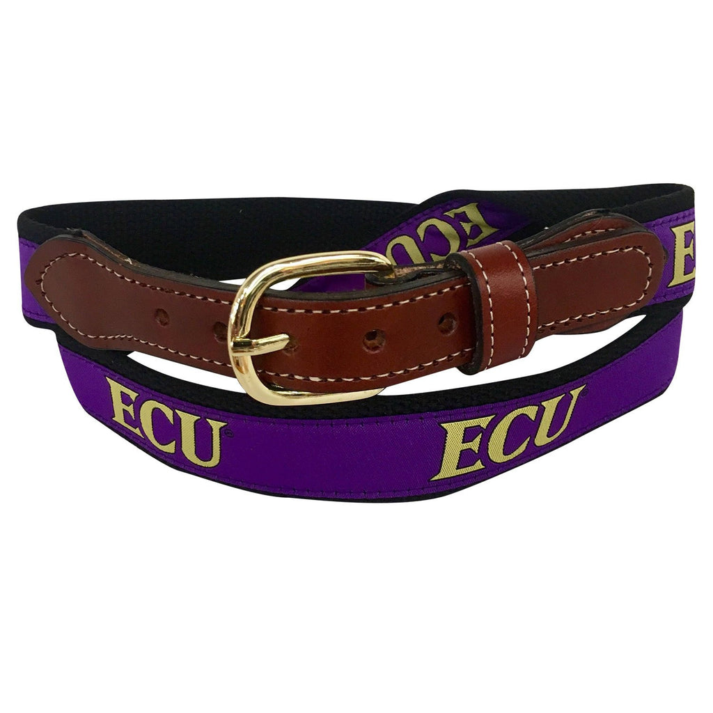 East Carolina ECU  Men's  Web Leather Belt