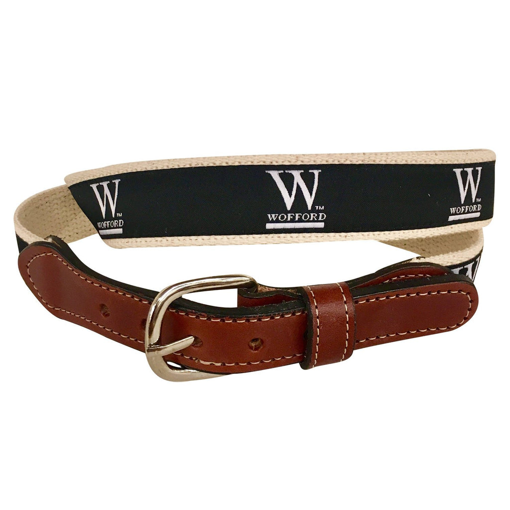 Wofford  Men's  Web Leather Belt