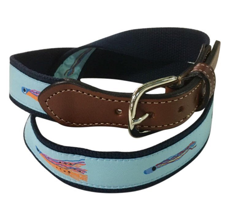Trolling Salt Lures Belt-  Web Leather Belt