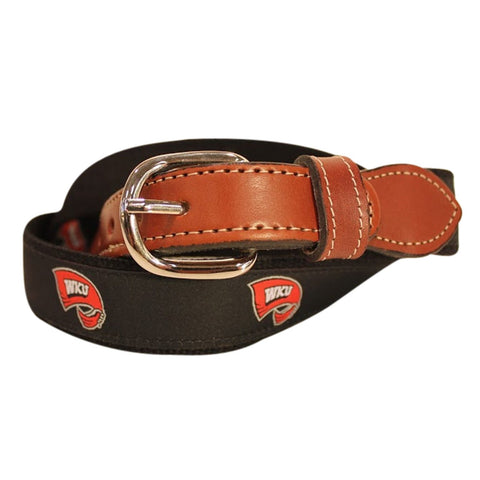 Western Kentucky University WKU  Men's  Web Leather Belt