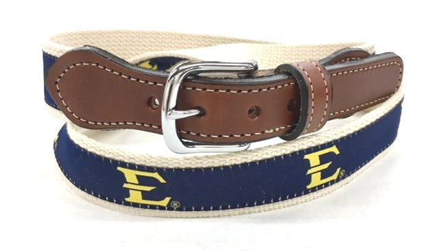 East  Tennessee Cotton Web Leather Belt