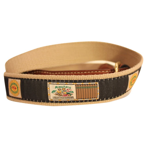 Cigar boxes woven Ribbon on cotton webbing Men's Web Leather Belt