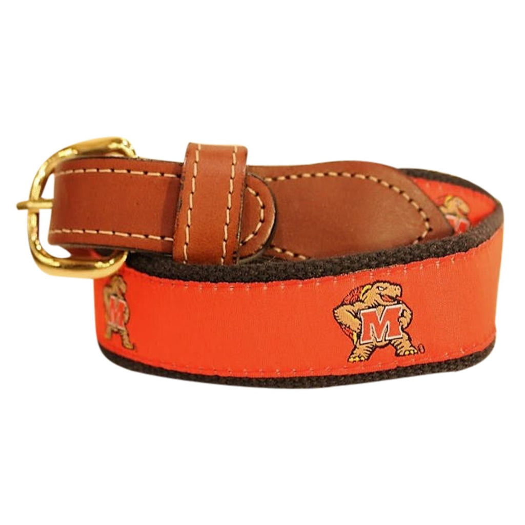 University of Maryland  Men's  Web Leather Belt
