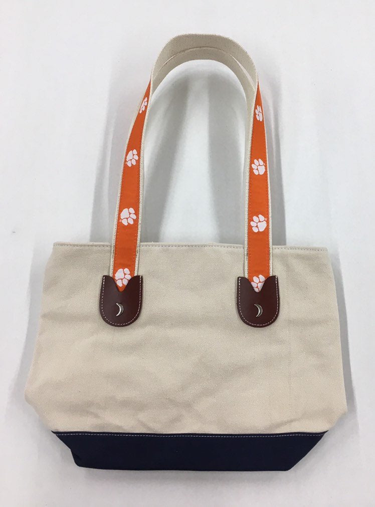 Clemson University Tigers Small Canvas Putse Tote