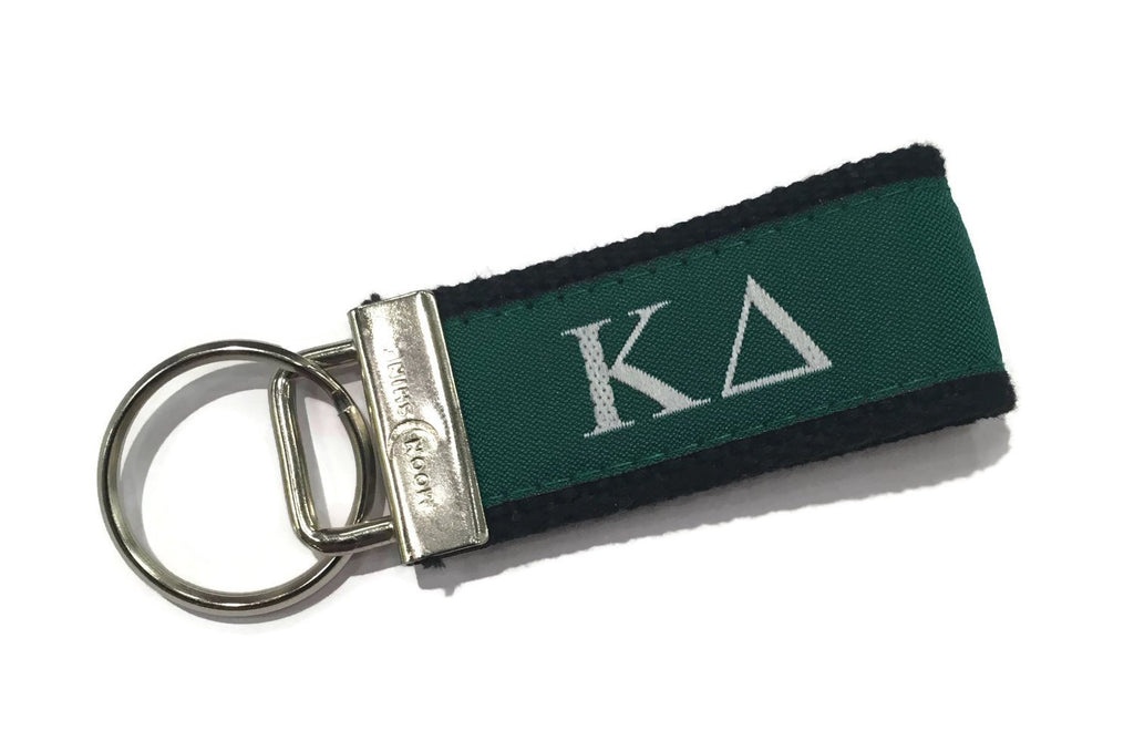 Greek Letter Kapa Delta Sorority Web Key Chain Fob.  Officially Licensed Greek Accessories.
