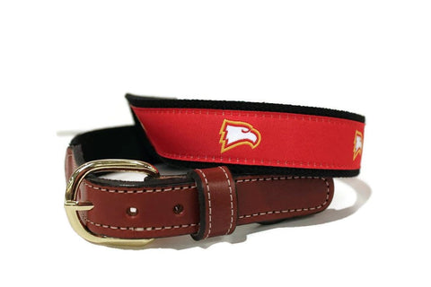 Winthrop University Men's  Web Leather Belt