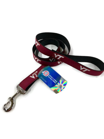 Virginia Tec Dog Leash. VT woven logo ribbon 6 foot leash. Licensed Virginia Tech products.