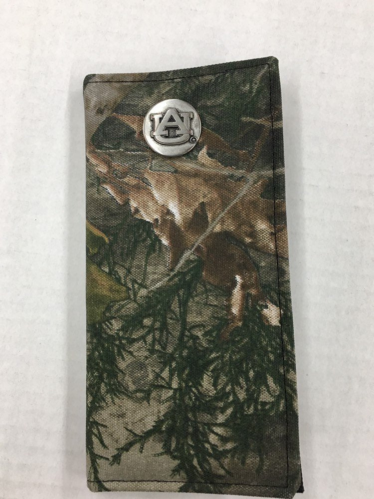 Auburn University Genuine Camouflage Secretary Wallet