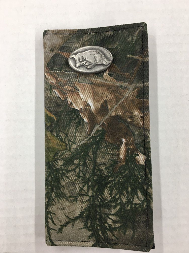 University of Arkansas Genuine Camouflage Secretary Wallet