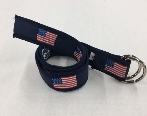 USA Flag American Flag D Ring Belt