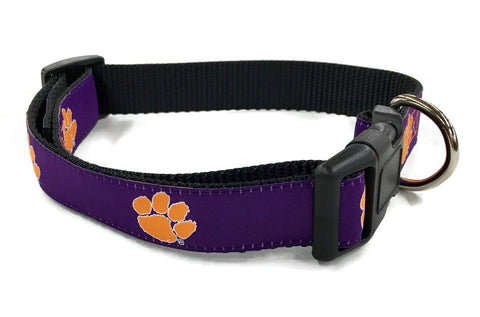 Clemson University Tigers Dog Collar. Officially Licensed Clemson pet collar.