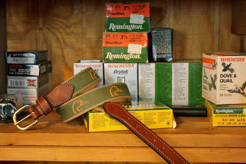 Ducks Unlimited woven ribbon on  Cotton Webbing Belt