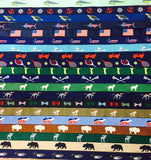 Outdoor ribbon Belts. jeep,lab,bear,horse,bow tie, fishing boat,us flag belts