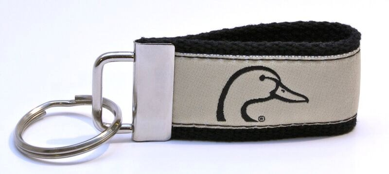 Ducks Unlimited Web Key Chain in 3 different colors Khaki, Pink and Green