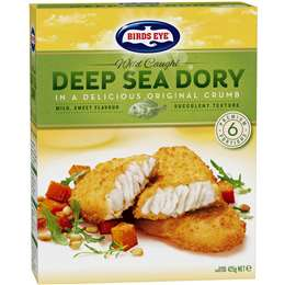 Birds Eye Wild Caught Deep Sea Dory Original Crumb 425g