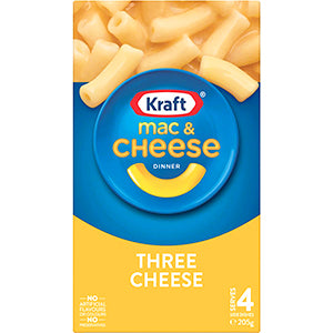 Kraft Mac & Cheese Three Cheese 205g, $3.00ea