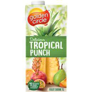 Golden Circle Tropical Punch Fruit Drink 1l, $2.25ea
