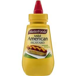 Masterfoods Squeezy Mild American Mustard 250g, $3.50ea