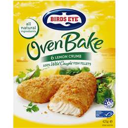 Birds Eye Oven Bake Crumbed Lemon (6x Pack), 425g