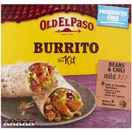 Old El Paso Burrito Dinner Kit 485g