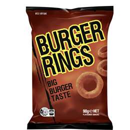 Burger Rings Burger Snacks 90g