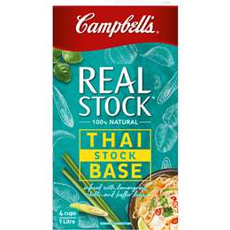 Campbell's Real Stock Thai Base Soup 1L,  $4.00ea