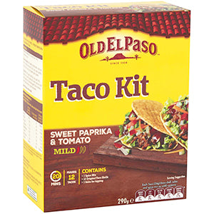 Old El Paso Mexican Sweet Paprika Taco Kit 290g