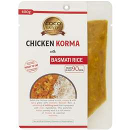 Coco Earth Chicken Korma With Basmati Rice 400g