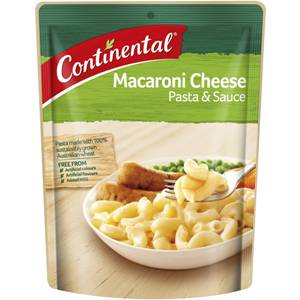 Continental Pasta & Sauce Macaroni Cheese 105g, $2.10ea