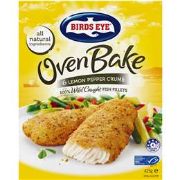 Birds Eye Oven Bake Crumbed Lemon Pepper (6x Pack), 425g